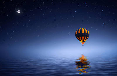 Air Ballon Art Print by Bess Hamiti