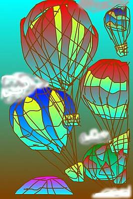 Digital Art - Air Balloons by Rae Chichilnitsky