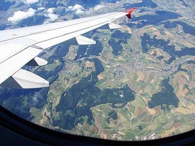 Green Travelpics Photograph - Air Berlin Over Switzerland by Travel Pics