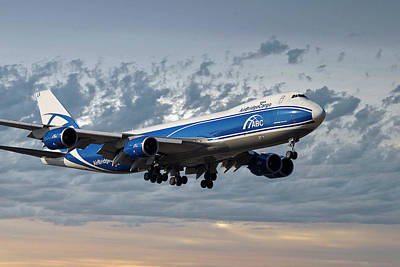 Jet Photograph - Air Bridge Cargo Airlines Boeing 747-8hv by Smart Aviation