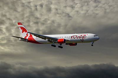 Canada Wall Art - Photograph - Air Canada Rouge Boeing 767-35h by Smart Aviation