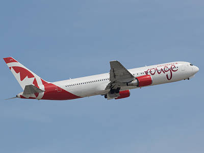 Photograph - Air Canada Rouge by Dart and Suze Humeston