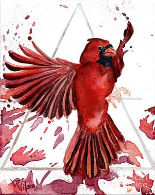 Painting - Air Cardinal by D Renee Wilson