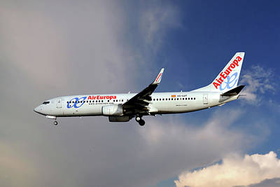 Madrid Photograph - Air Europa Boeing 737-85p by Smart Aviation