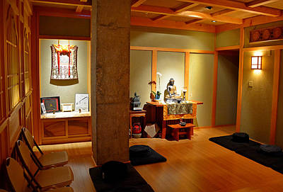 Photograph - Air Force Chapel Buddhist Study 1 by Robert Meyers-Lussier
