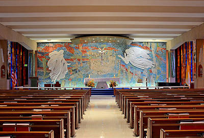 Photograph - Air Force Chapel Catholic Study 1 by Robert Meyers-Lussier