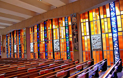 Photograph - Air Force Chapel Catholic Study 2 by Robert Meyers-Lussier