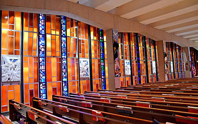 Photograph - Air Force Chapel Catholic Study 3 by Robert Meyers-Lussier