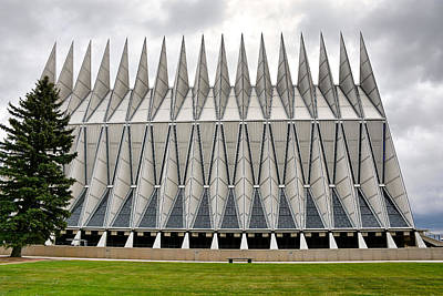 Photograph - Air Force Chapel Exterior Study 5 by Robert Meyers-Lussier