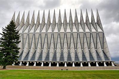Photograph - Air Force Chapel Exterior Study 5 by Robert Meyers-Lussier