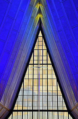 Photograph - Air Force Chapel Interior Study 1 by Robert Meyers-Lussier