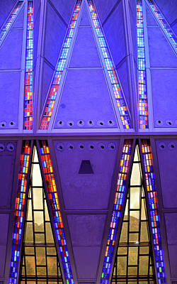 Photograph - Air Force Chapel Interior Study 10 by Robert Meyers-Lussier