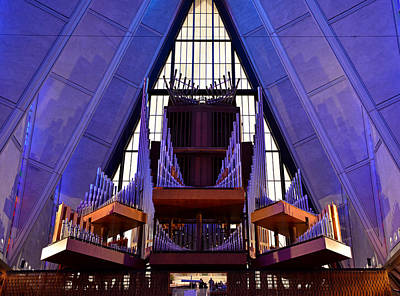 Photograph - Air Force Chapel Interior Study 11 by Robert Meyers-Lussier