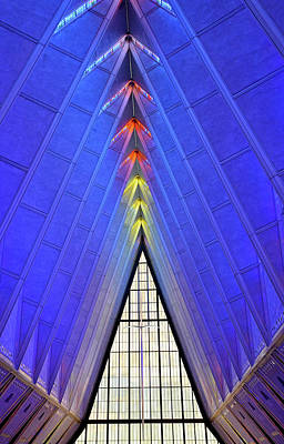 Photograph - Air Force Chapel Interior Study 2 by Robert Meyers-Lussier