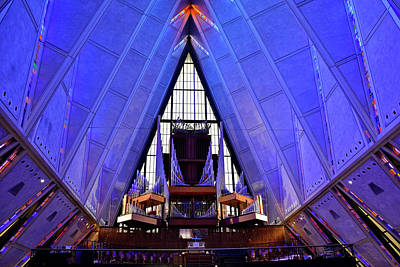 Photograph - Air Force Chapel Interior Study 4 by Robert Meyers-Lussier
