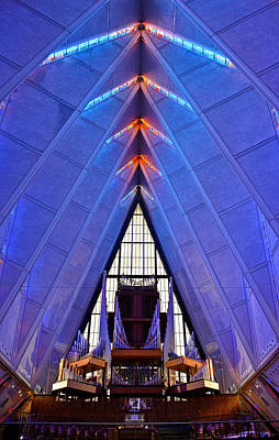 Photograph - Air Force Chapel Interior Study 6 by Robert Meyers-Lussier