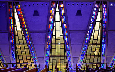 Photograph - Air Force Chapel Interior Study 7 by Robert Meyers-Lussier