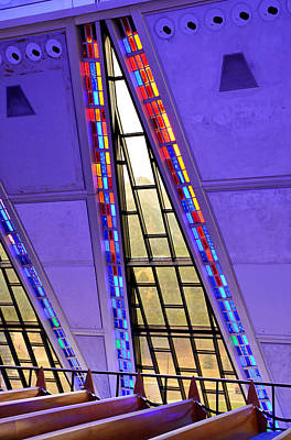 Photograph - Air Force Chapel Interior Study 8 by Robert Meyers-Lussier