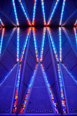 Photograph - Air Force Chapel Interior Study 9 by Robert Meyers-Lussier