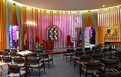Photograph - Air Force Chapel Jewish Study 1 by Robert Meyers-Lussier