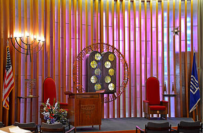 Photograph - Air Force Chapel Jewish Study 2 by Robert Meyers-Lussier