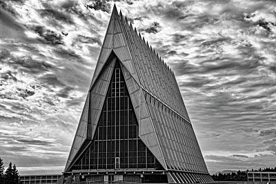 Photograph - Air Force Chapel Study 5 by Robert Meyers-Lussier