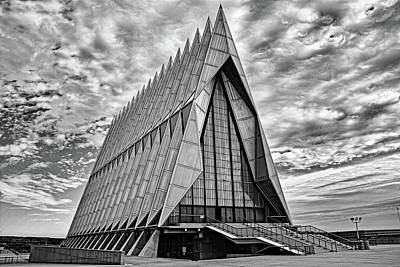 Photograph - Air Force Chapel Study 6 by Robert Meyers-Lussier