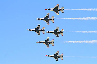 Photograph - Air Force Delta Formation by Shoal Hollingsworth