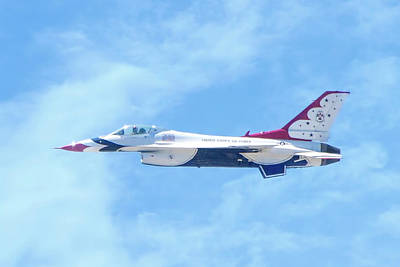Photograph - Air Force F-16 Thunderbird by Mark Andrew Thomas