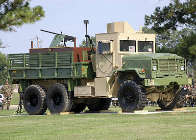 Photograph - Air Force Gun Truck by Stocktrek Images