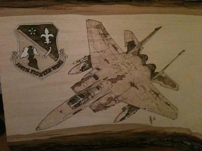 John Pitre Pyrography - Air Force by John Pitre