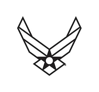Digital Art - Air Force Logo by The Grumman Store