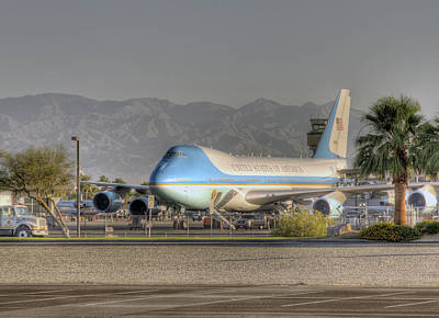 Photograph - Air Force One In Palm Springs by Matthew Bamberg