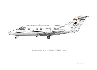 Digital Art - Air Force T-1 Jayhawk by Rick Blyseth