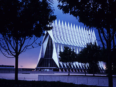 Air Force The Cadet Chapel Print by GerMaine Photography
