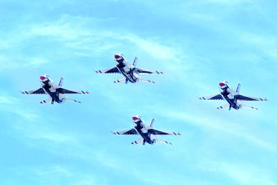 Photograph - Air Force Thunderbirds by Mark Andrew Thomas