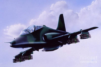 Painting - Air Force Trainer by Pete Sintes