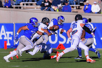 Photograph - Air Force Versus Boise State by Michael Kaplan