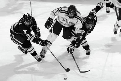 Photograph - Air Force Versus Yale In Hockey by Skeeze