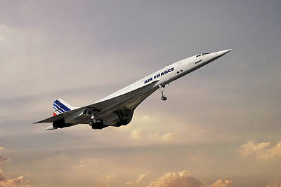 Passenger Plane Photograph - Air France Concorde 121 by Smart Aviation