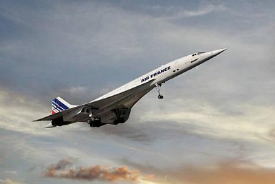 Passenger Plane Photograph - Air France Concorde 122 by Smart Aviation