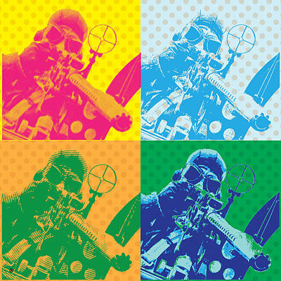 Digital Art - Air Gunner by Gary Grayson