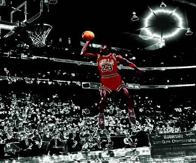 Patrick Ewing Digital Art - Air Jordan 4e by Brian Reaves