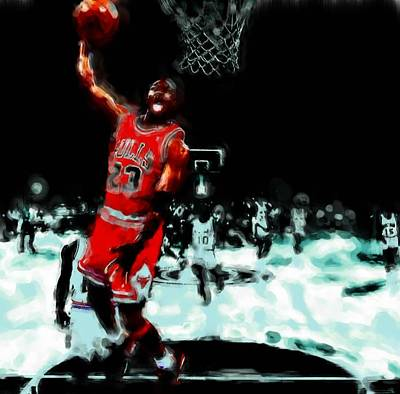 Carmelo Anthony Painting - Air Jordan Break Away by Brian Reaves