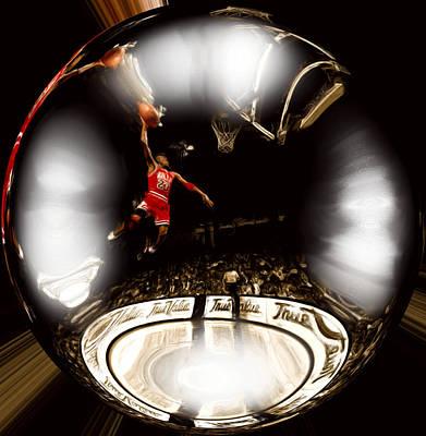 Patrick Ewing Digital Art - Air Jordan Bubble by Brian Reaves