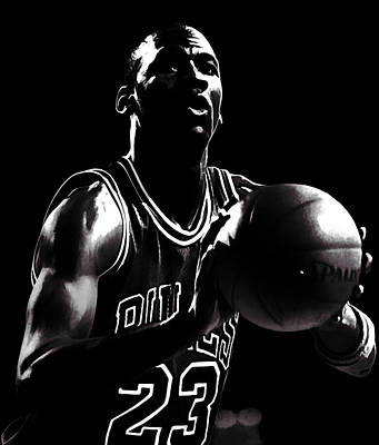 Air Jordan Every Point Coubts Art Print by Brian Reaves