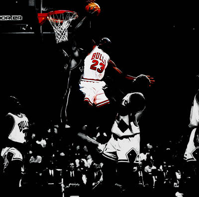 Patrick Ewing Mixed Media - Air Jordan Gimme Dat by Brian Reaves