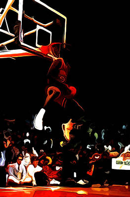 Carmelo Anthony Painting - Air Jordan In Flight 04c by Brian Reaves