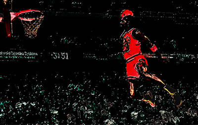 John Stockton Digital Art - Air Jordan In Flight 3g by Brian Reaves