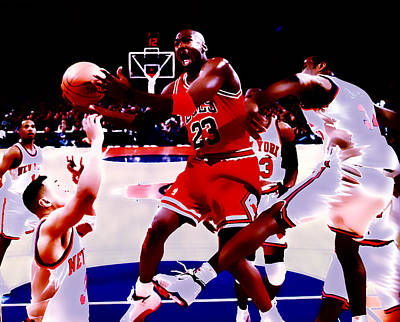 Air Jordan In Traffic Art Print by Brian Reaves